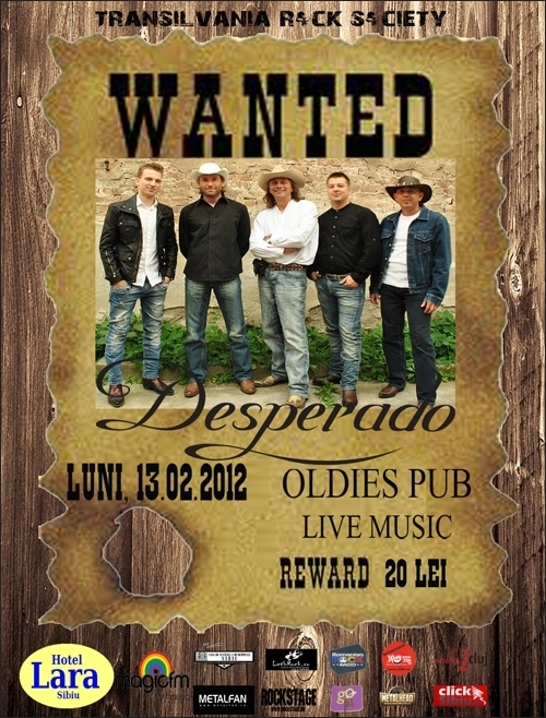 Concert Desperado in Oldies Pub Sibiu