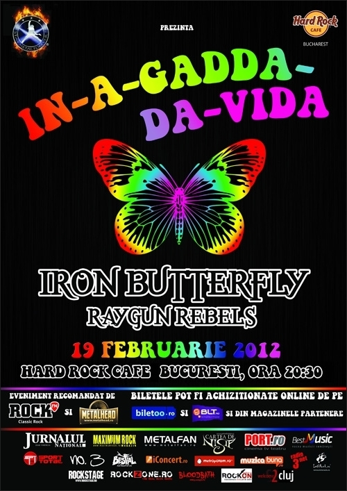 Concert Iron Butterfly si Raygun Rebel