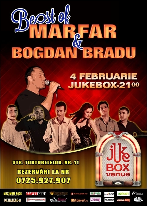 Concert Marfar si Bogdan Bradu in Jukebox Venue, 4 februarie 2012
