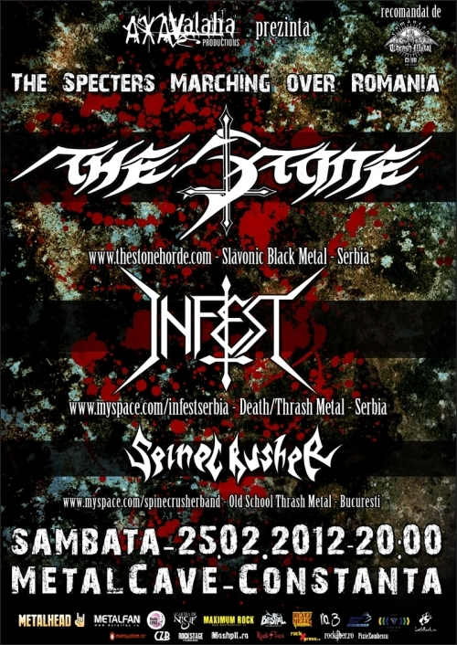 Concert The Stone si Infest in club MetalCave din Constanta