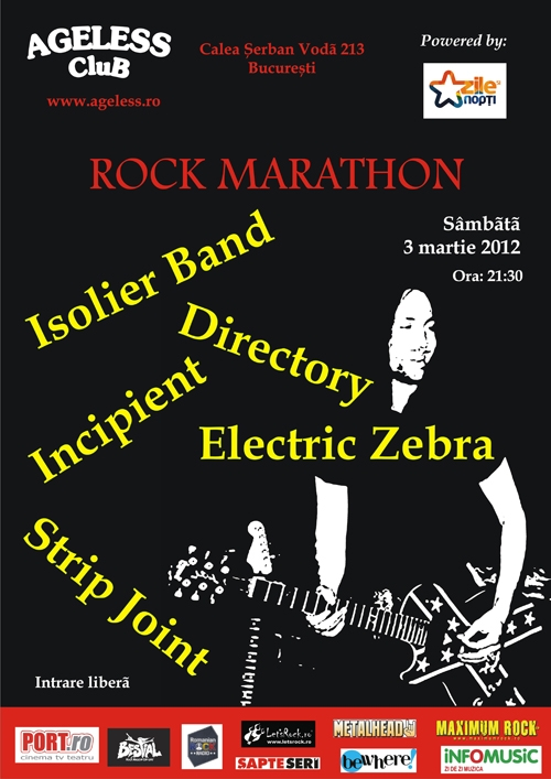 Concert Directory, Incipient, Isolier Band, Strip Joint si Electric Zebra