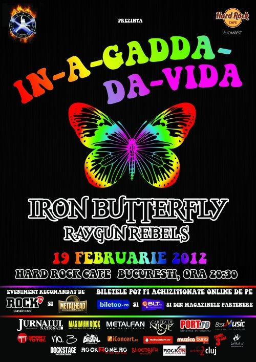 Concert Iron Butterfly si Raygun Rebels in Hard Rock Cafe