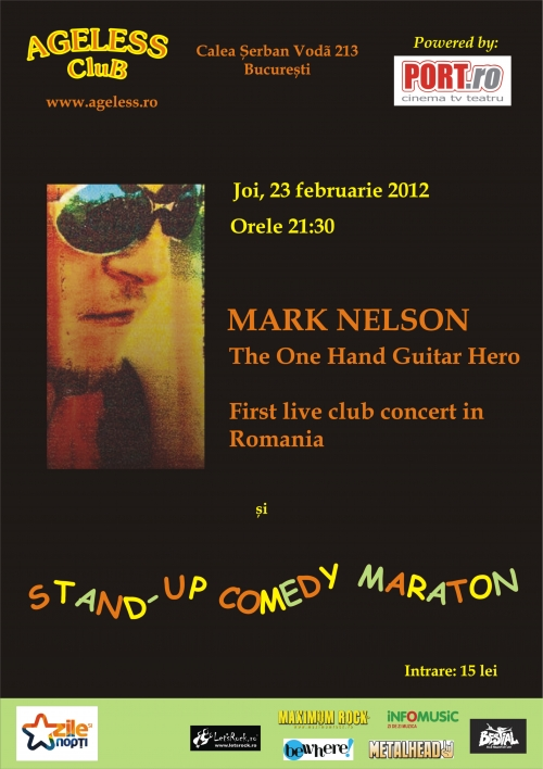 Concert Mark Nelson, The One Hand Guitar Hero in Ageless Club