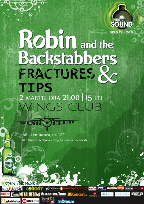 Concert Robin and the Backstabbers, Fractures si Tips in Wings Club