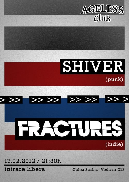 Concert Shiver si Fractures in Ageless Club