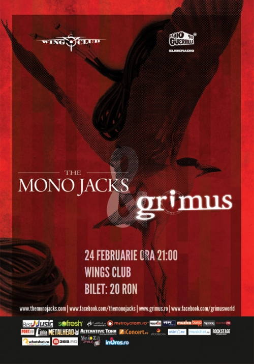 Concert The Mono Jacks si Grimus in Wings Club