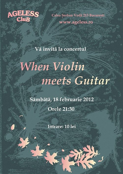 Concert When Violin meets Guitar in Ageless Club