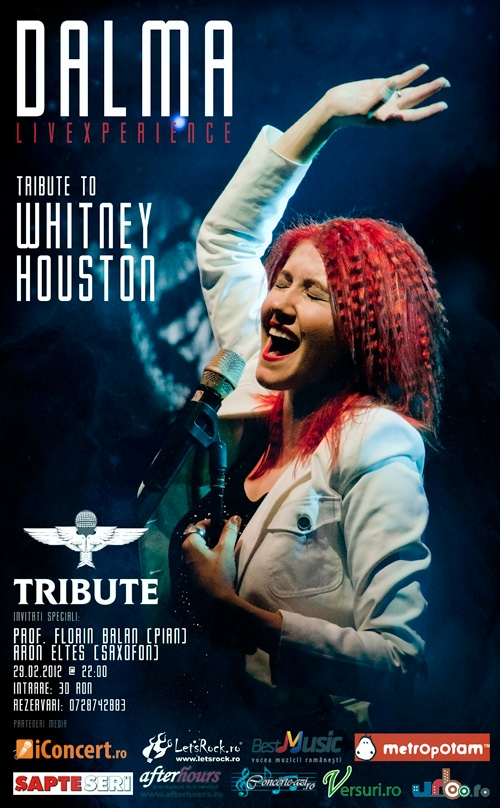 Concert tribut Whitney Houston cu Dalma in Club Tribute