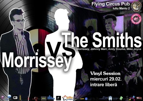 Morrissey vs. The Smiths, Vinyl session in Flying Circus Pub din Cluj-Napoca