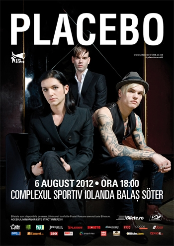 Placebo vor concerta in Romania in august 2012