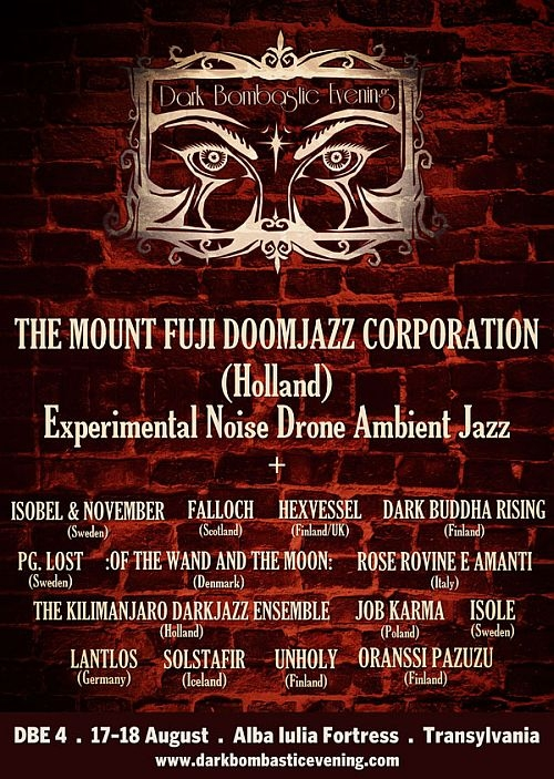 The Mount Fuji Doomjazz Corporation este a cincisprezecea trupa anuntata la Dark Bombastic Evening 4
