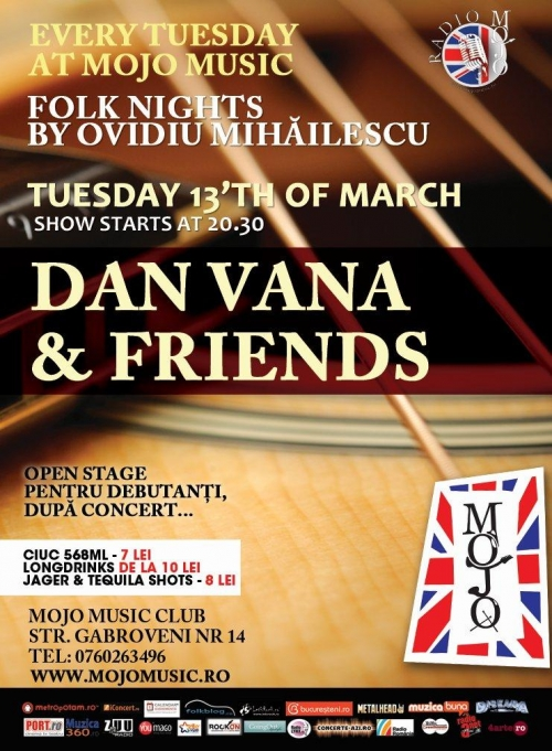 Concert Dan Vana in Mojo Club