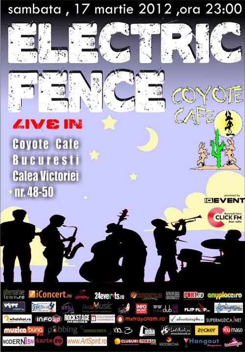 Concert Electric Fence in Coyote Cafe