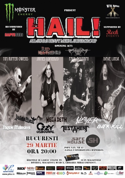 Concert HAIL la Bucuresti - line-up final