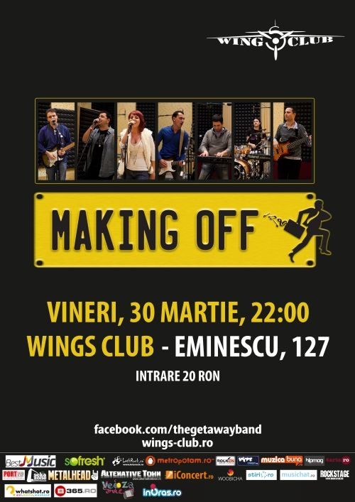 Concert Making Off - Live Cover Band in Wings Club in 30 martie 2012