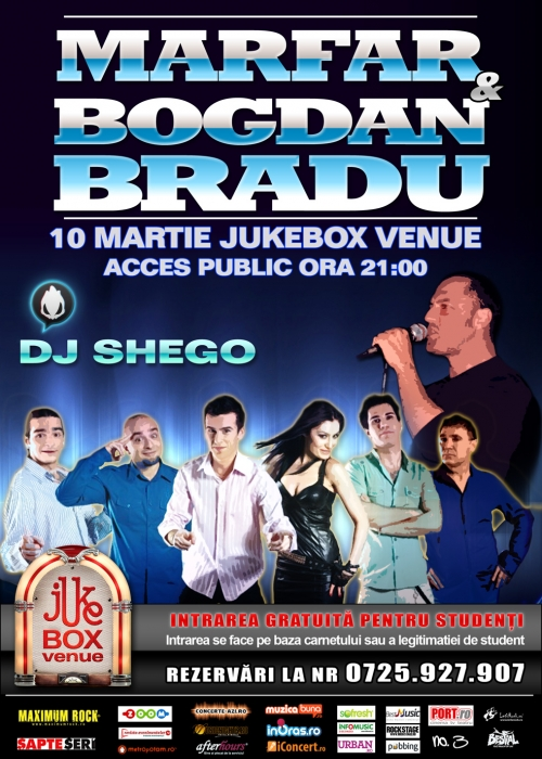 Concert Marfar si Bogdan Bradu in Jukebox Venue