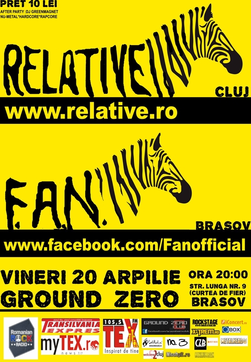 Concert Relative si Fun in Ground Zero din Brasov