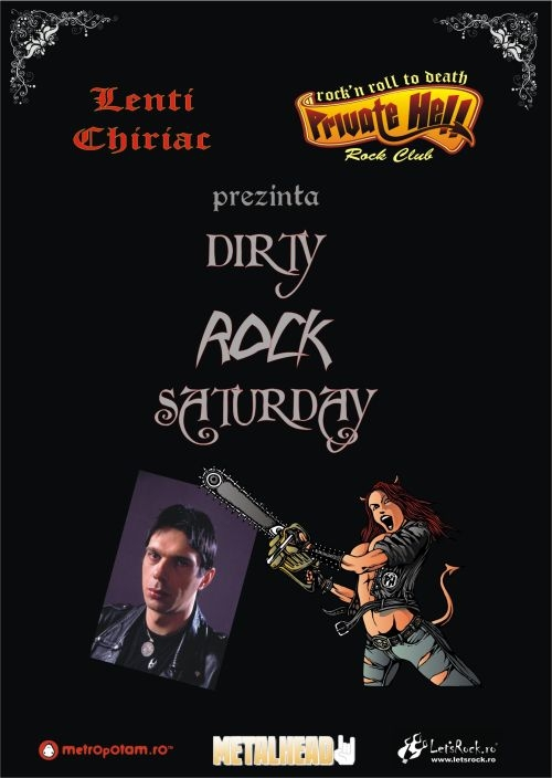 Dirty Rock Saturday in Private Hell Rock Club cu Lenti Chiriac, 17 martie 2012