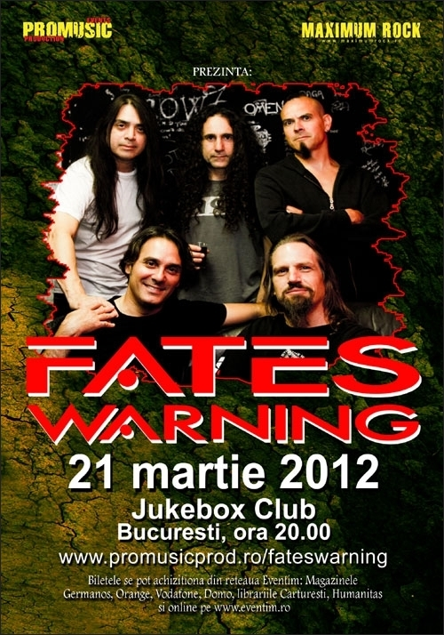 Trupa Voices Of Silence canta in deschiderea concertului Fates Warning din Jukebox Club