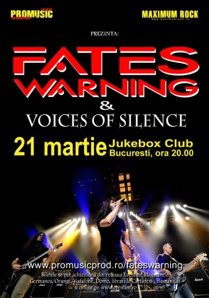 Noi detalii concert FATES WARNING in Jukebox Club din Bucuresti