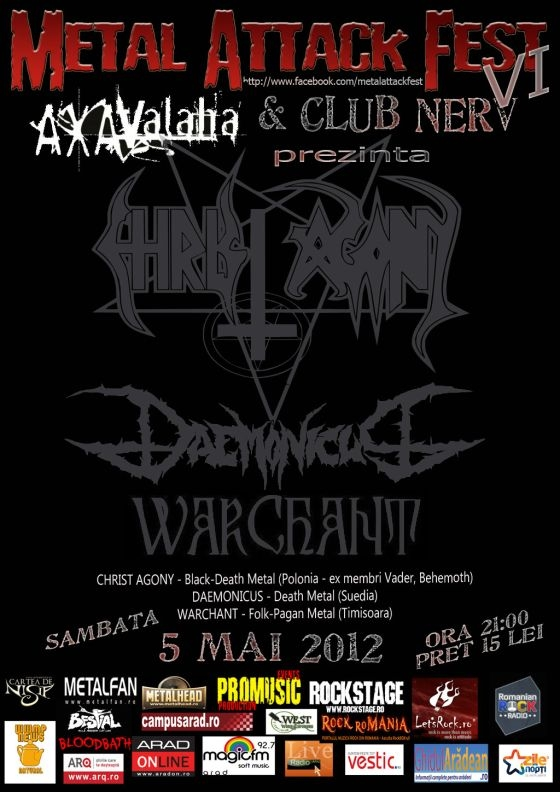 Christ Agony, Daemonicus si Warchant la Metal Attack Fest VI in Club Nerv