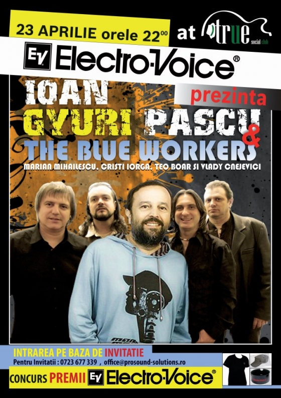 Concert Gyuri Pascu si The Blue Workers in True Social Club