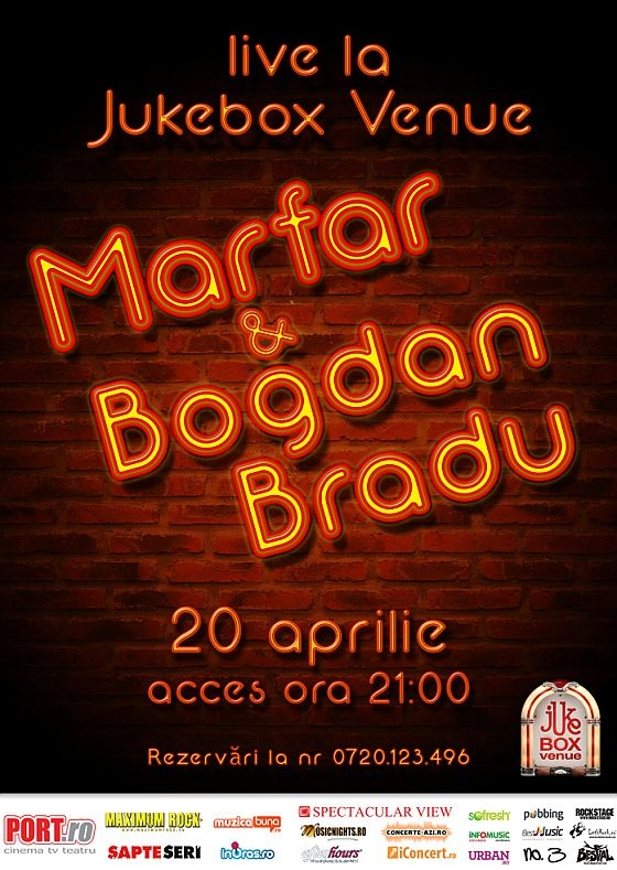 Concert Marfar si Bogdan Bradu in Jukebox Venue din Bucuresti
