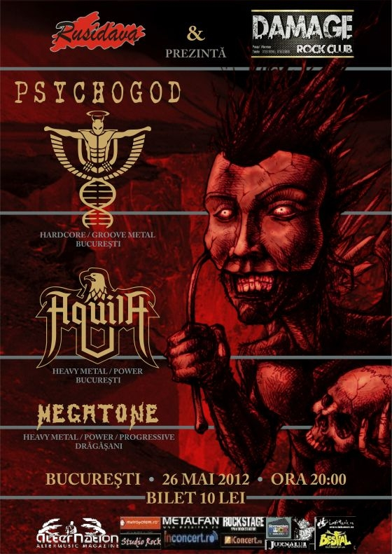 Concert Psychogod, Aquila si Megatone in Damage Club