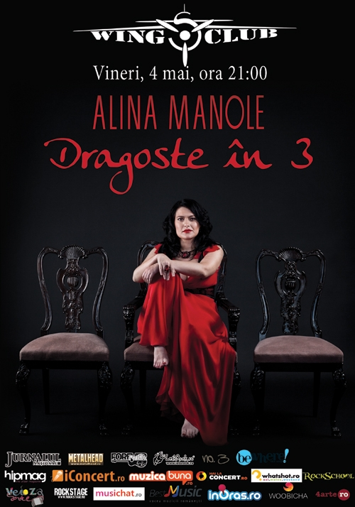 Concert Alina Manole - Dragoste in 3 in Wings Club