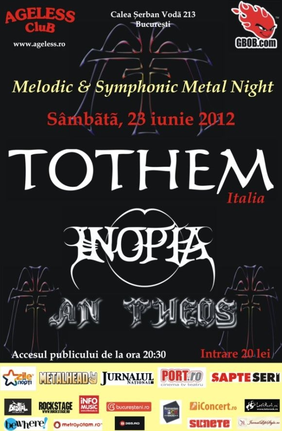 Concert Tothem, Inopia, Monarchy si An Theos in Ageless Club
