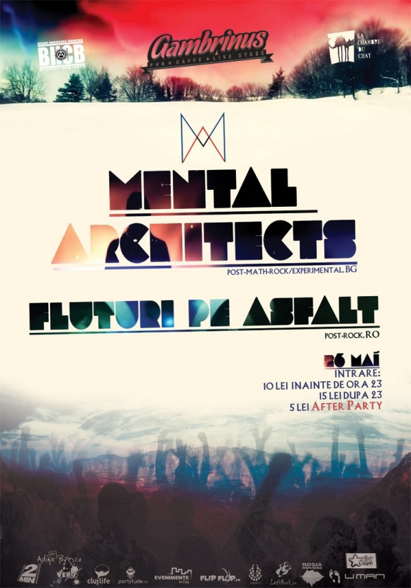 Concert Mental Architects si Fluturi Pe Asfalt in Gambrinus Pub