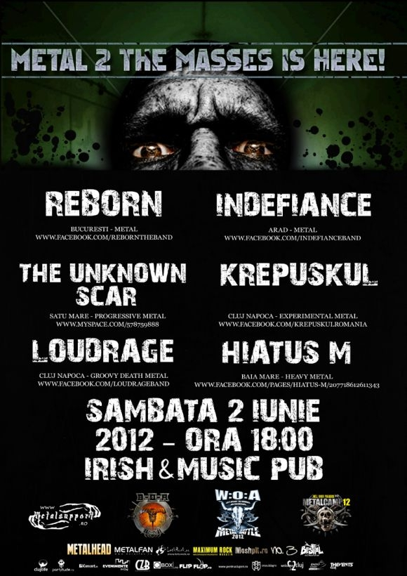 Metal 2 The Masses in Irish & Music Pub din Cluj-Napoca