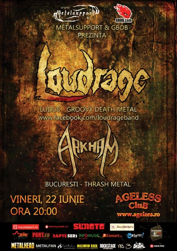 Concert Loudrage si Arkham in Ageless Club