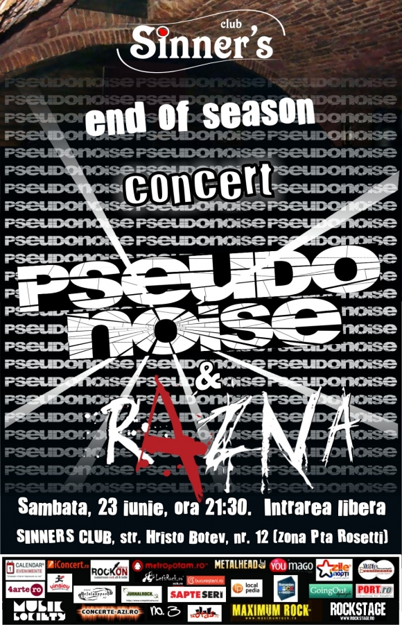 Concert Pseudonoise si Razna in Sinners Club