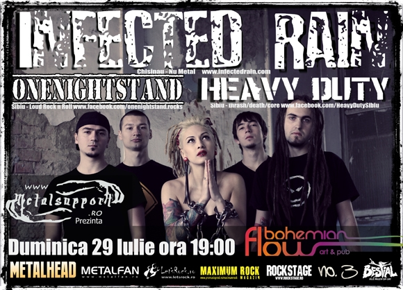 Concert Infected Rain, Heavy Duty si One Night Stand in Bohemian Flow Art and Pub Sibiu