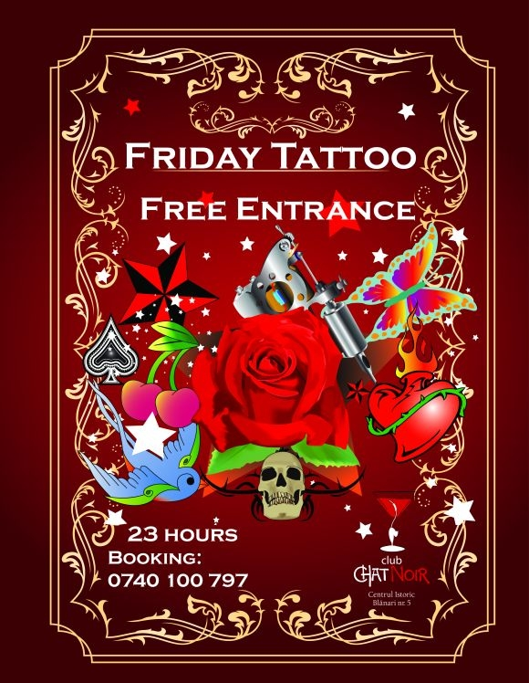 Friday Tattoo in club Chat Noir