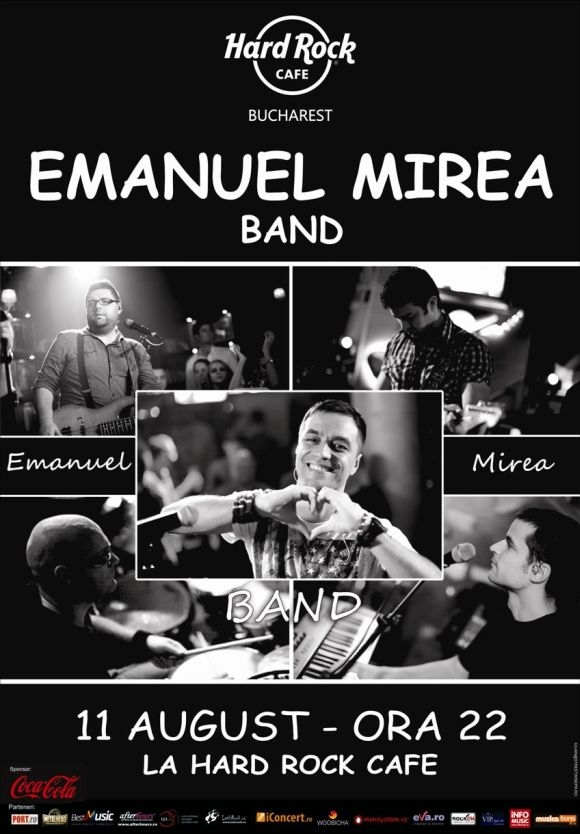 Concert Emanuel Mirea Band in Hard Rock Cafe