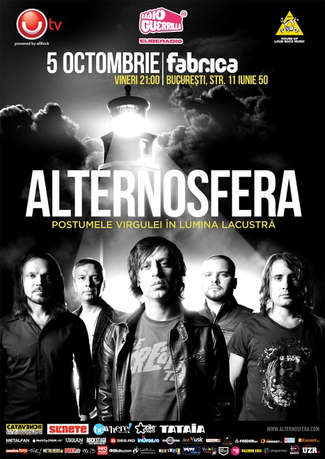 Concert Alternosfera in club Fabrica din Bucuresti