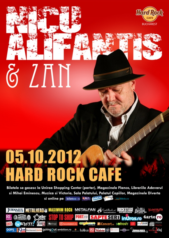 Nicu Alifantis si Zan – concert extraordinar pe 5 octombrie in Hard Rock Cafe