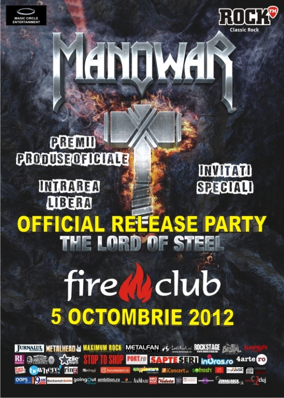 Official release party pentru noul album MANOWAR pe 5 octombrie in Fire Club