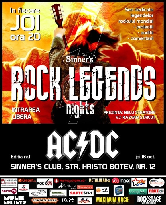 AC/DC la Rock Legends Nights in Sinner's Club