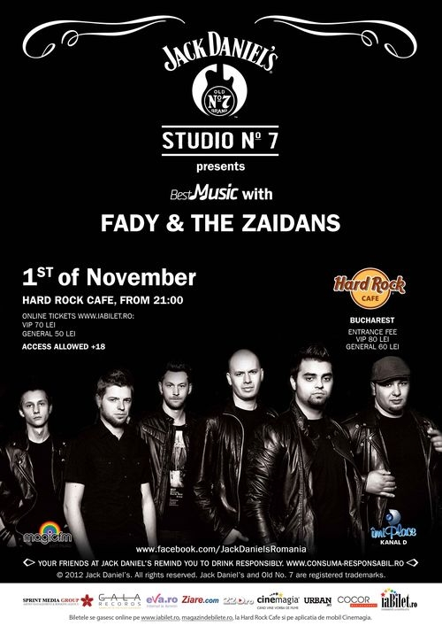Concert Fady & the Zaidans in Hard Rock Cafe