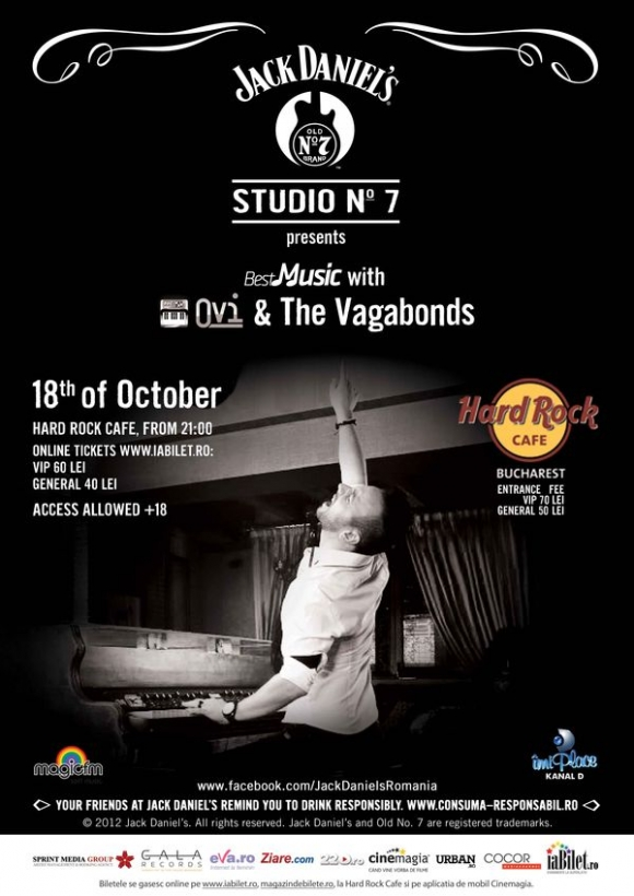 Concert OVI & The Vagabonds la Hard Rock Cafe