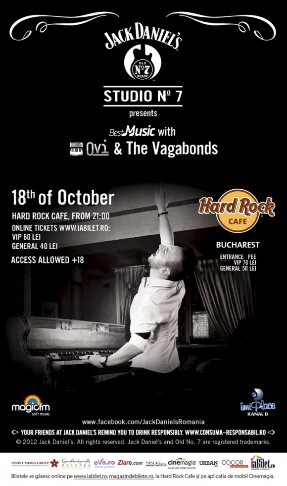 Concert Ovi & The Vagabonds in Hard Rock Cafe