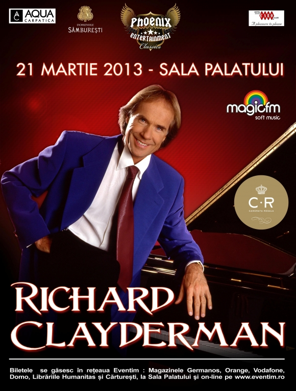 Concert Richard Clayderman la Sala Palatului din Bucuresti