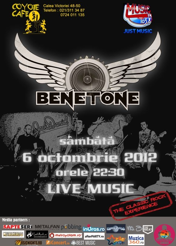 Concert BENETONE Band in Coyote Cafe