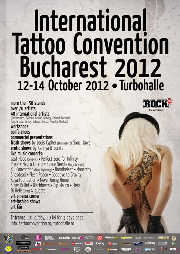 70 de artisti tatuatori profestionisti la International Tattoo Convention Bucharest