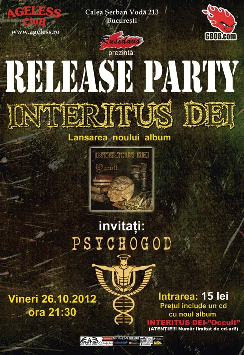 Lansare album Interitus Dei in Ageless Club