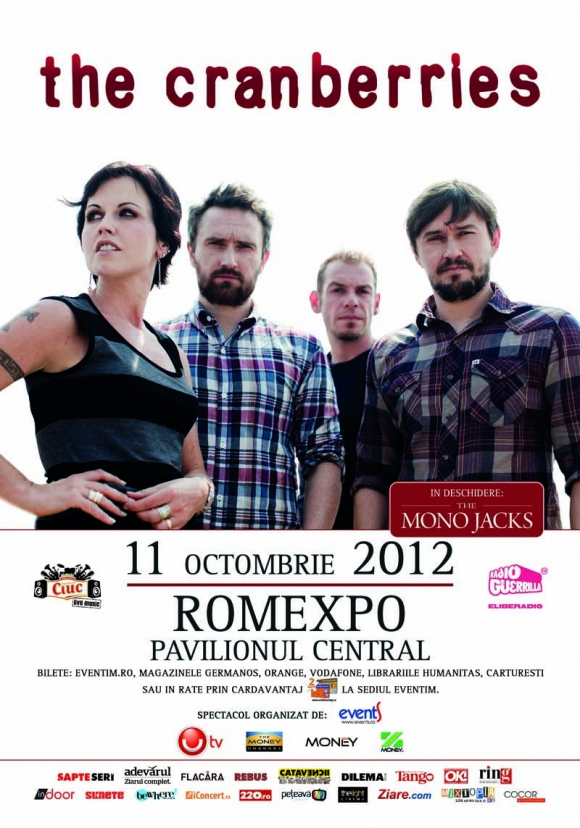 The Mono Jacks vor deschide concertul The Cranberries de la Romexpo