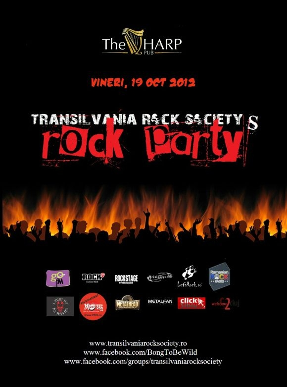 Transilvania Rock Society reincepe seria de petreceri rock in The Harp Pub